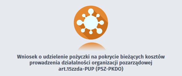 Baner z linkiem do strony złożenia wniosku w formie elektronicznej